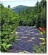 Swift River Mountain View Kancamagus Hwy Nh Canvas Print