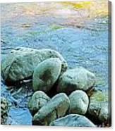 Swift River Rock Kancamagus Highway Nh Canvas Print