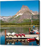 Swiftcurrent Lake Canvas Print
