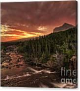 Swiftcurrent River Sunrise Canvas Print
