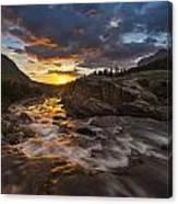 Swiftcurrent Sunrise Canvas Print