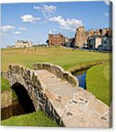 Swilcan Bridge On The 18th Hole At St Andrews Old Golf Course Scotland Canvas Print
