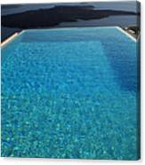 Swim Above The Santorini Island Canvas Print