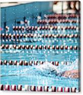 Swimmer In A Sport Pool Canvas Print