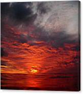 Swimmers Sunset Canvas Print
