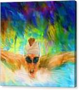 Swimming Fast Canvas Print