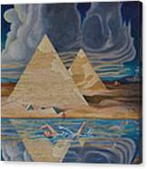 Swimming In That River In Egypt Canvas Print