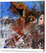 Swimming Pig Canvas Print