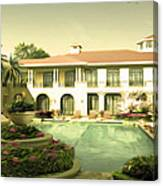 Swimming Pool In Luxury Hotel Canvas Print