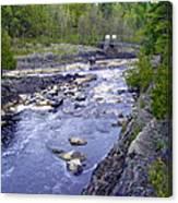 Swing Bridge Over The River Canvas Print