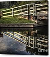 Swing Bridge Reflected Canvas Print