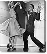 Swing Dancing Couple Canvas Print