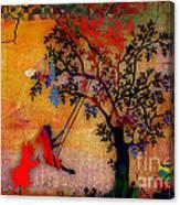 Swinging On A Tree Canvas Print