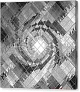 Swirl In A Checkered Mirror V Canvas Print