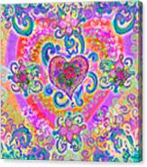 Swirley Heart Variant 1 Canvas Print