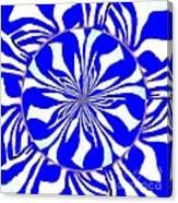 Swirling Blue Zebra Kaleidoscope  Canvas Print