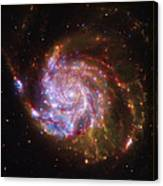 Swirling Red Galaxy Canvas Print