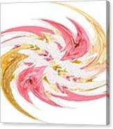 Swirling Roses Abstract  Canvas Print