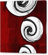 Swirling Round Canvas Print
