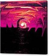 Swirling Sunset In Fuchsia  Canvas Print