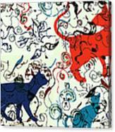Swirls And Pussycats Canvas Print