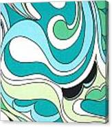 Swirls Blue Green Canvas Print