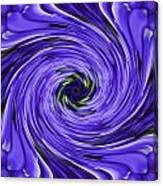 Swirls Of Blue Canvas Print