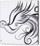 Swirly Sparrow Canvas Print