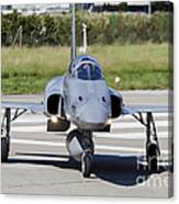 Swiss Air Force F-5e Tiger Recovering Canvas Print