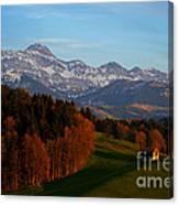 Swiss Alpine Scene Canvas Print