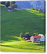 Swiss Farm House Canvas Print