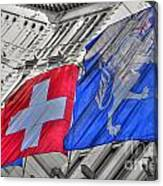 Swiss Flags  Canvas Print