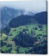Swiss Mountain Village Canvas Print