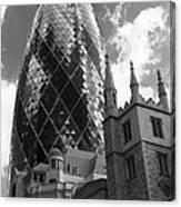Swiss Re Tower In London Canvas Print