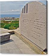Swissair Flight 111 Of 1998 Memorial In Whalesback-ns Canvas Print