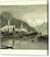 Switzerland. Illustrated In A Series Of Views Taken Canvas Print