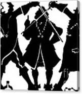 Sword Duel Silhouette  Canvas Print