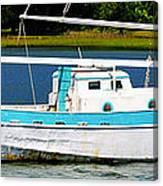 Swordfish Boat Pano Canvas Print
