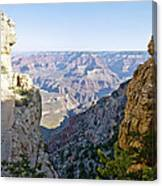Swtichback Trails On The Steep Walls Of The Grand Canyon Canvas Print