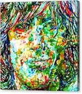 Syd Barrett - Watercolor Portrait Canvas Print