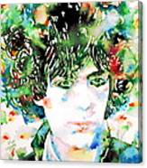 Syd Barrett Watercolor Portrait.1 Canvas Print
