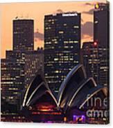 Sydney At Sunset Canvas Print