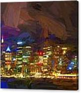 Sydney Harbour At Night Canvas Print