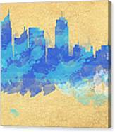 Sydney In Blue Canvas Print