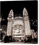Sydney Luna Park Canvas Print