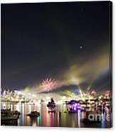 Sydney Navy Fleet Fireworks Canvas Print