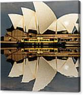 Sydney Opera House With Clouds Canvas Print