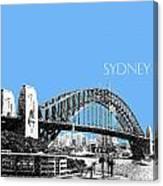Sydney Skyline 2 Harbor Bridge - Light Blue Canvas Print