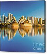 Sydney Skyline With Reflection Canvas Print