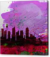 Sydney Watercolor Skyline 2 Canvas Print